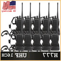Retevis H777 Walkie Talkie Two Way Radio Headset UHF handhel