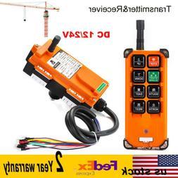 12/24V Transmitter&Receiver Hoist Crane Radio Wireless Indus