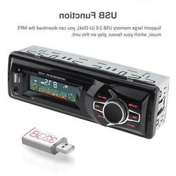 12V LCD Display Car Radio MP3 Player Vehicle Stereo Audio In