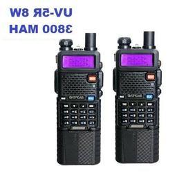 2 Pack BAOFENG UV-5r 8W 3800 MAH High Power Dual Band Portab