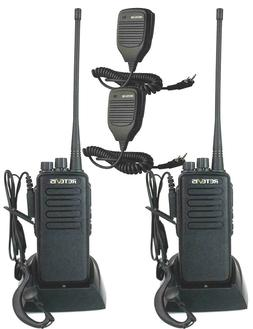 2-Pack Retevis H777 WalkieTalkie UHF400-470MHz 2-Way Radios