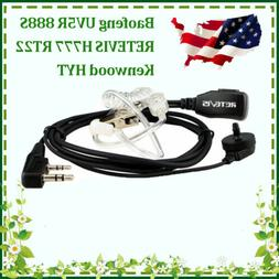 2-Pin Air Acoustic Earpieces Headsets for Retevis H777/Baofe