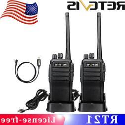 2×Retevis RT21 2Way Radios 16Ch UHF400-480MHz VOX TOT US Em