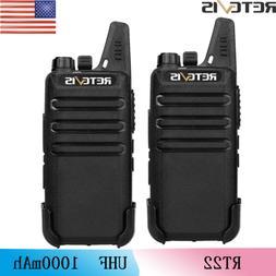 2XRetevis RT22 16CH Walkie Talkie UHF CTCSS&DCS Dustproof 2W