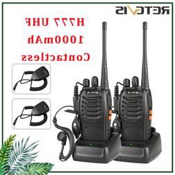 2× Walkie Talkie Retevis H777 5W CTCSS/DCS 16CH UHF400-470M