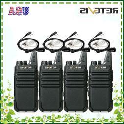 2xRetevis RT22 Walkie Talkies 2W FRS License-Free UHF 16CH V