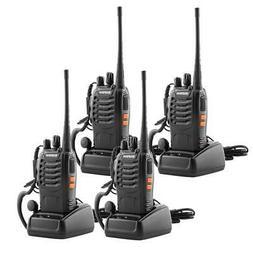 4x Baofeng BF-888S UHF 400-470MHz Two-way Radio Flashlight W