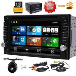 6.2 Inch 2 Din Car Radio Stereo GPS Bluetooth Hands Free Wit