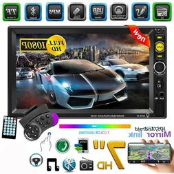 """7"""" 2Din Car Stereo Radio Touch Screen Bluetooth Mp5 Player A"""