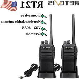 8*Retevis Walkie Talkies RT21 FRS 2Way radio UHF 16CH USB ch