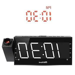 """Mesqool 7"""" Projection Alarm Clock for Bedrooms, Ceiling, Kit"""