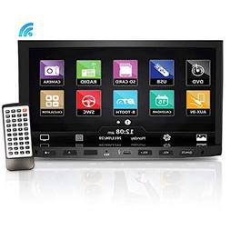 Premium Pyle 7-Inch Double-DIN Car Stereo Receiver with Blue