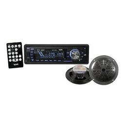 Pyle - 400-Watt In-Dash Marine AM/FM PLL Tuning Radio with U