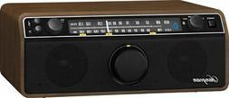 Sangean WR-12BT AM/FM/Bluetooth/AUX Analog Wooden Cabinet Re