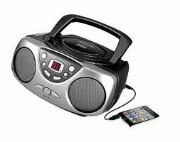 Sylvania SRCD243M-Black Portable CD Radio