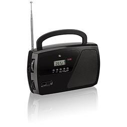 Fm Radio, Black Shortwave Am/fm Clock Portable Bluetooth Dig