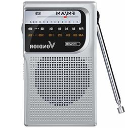 AM/FM Battery Operated Portable Pocket Radio - Best Receptio