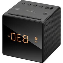 Sony AM/FM Compact Alarm Clock Radio with Easy to Read, Back
