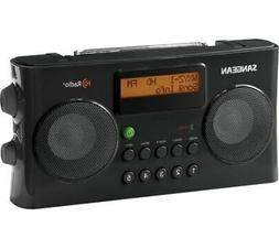 Sangean AM/FM HD Portable Radio, Black, Med