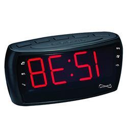 SuperSonic Digital AM/FM Radio Alarm Clock Radio with Jumbo
