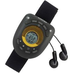 JENSEN Digital AM/FM Stereo Armband Clock Radio Headphone