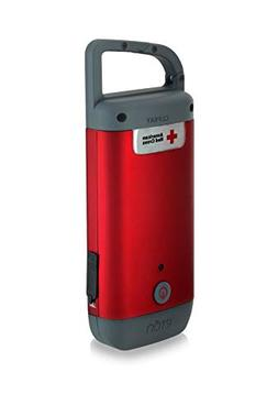 The American Red Cross Clipray crank-powered, clip-on flashl