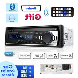 Bluetooth Car Stereo Audio In-Dash FM Aux Input Receiver MP3
