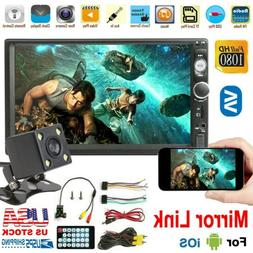 """7"""" Inch 2 DIN Car Stereo Radio  HD MP5 FM Player Touch Scree"""