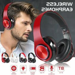 Bluetooth Noise Cancelling Headphones Over Ear Stereo Earpho