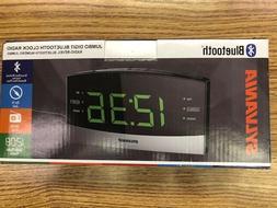 Bluetooth Radio Alarm Clock with Battery Backup IPhone Aux I