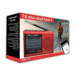 BRAND NEW Supersonic SC-1080BT 9-Band Radio w/ Bluetooth/USB
