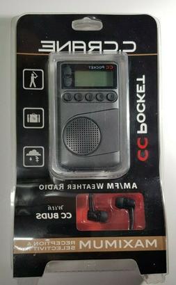 C. Crane CC Pocket AM FM and NOAA Weather Radio with Clock a