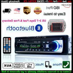 Car Stereo 12V FM In Dash Radio 1 DIN SD/USB AUX Bluetooth H