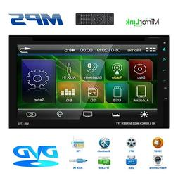 "Car Stereo Mirrorlink-GPS Bluetooth Radio Double 2 Din 6.2"""