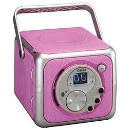 Jensen CD-555 Pink CD Bluetooth Boombox Portable Bluetooth M
