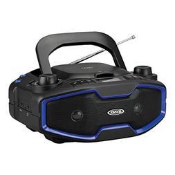 Jensen CD-575 Blue Portable Sport Stereo Boombox CD/MP3 Play