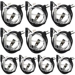 Tenq® 10pack New Covert Acoustic Tube Earpiece 2 PIN for Mo