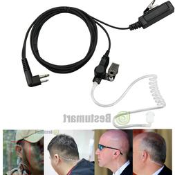 Discreet 2-Pin Acoustic Tube Earpiece & Microphone Compatibl