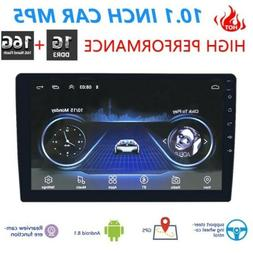 Double 2 DIN 10inch Android Car Stereo GPS BT WiFi FM Radio