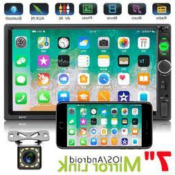 """Double 2 Din 7"""" Car Stereo Radio Bluetooth Audio USB AUX IOS"""