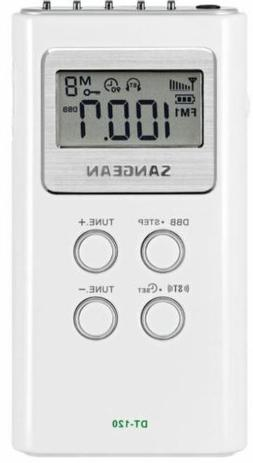 SANGEAN DT-120 AM/FM STEREO DIGITAL TUNIGN POCKET RADIO