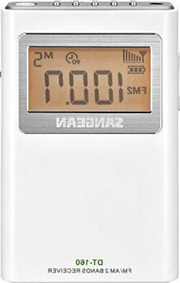 Sangean DT-160 AM/FM Stereo Pocket Radio with 100 Operating