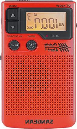 Sangean DT-400WSE RED AM/FM Digital Weather Alert Pocket Rad
