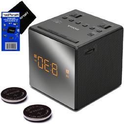 Sony Dual Alarm Clock with Extendable Snooze, AM/FM Radio, B