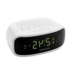 Electrohome EAAC201 Clock Radio - 2 x Alarm - AM, FM