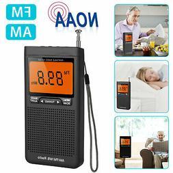 Emergency Pocket NOAA AM FM Weather Radio Compact Portable A