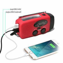 Emergency Solar Hand Crank Dynamo AM/FM Weather Radio LED Fl
