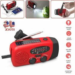 Emergency Solar Hand Crank Dynamo AM/FM/WB Radio LED Flashli