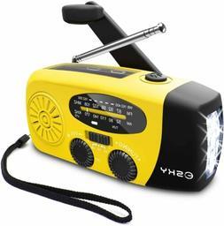 Emergency Solar Hand Crank Weather Radio 2000mAh Power Bank