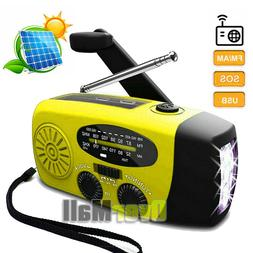 Emergency Weather Radio Portable Survival Solar Hand Crank A